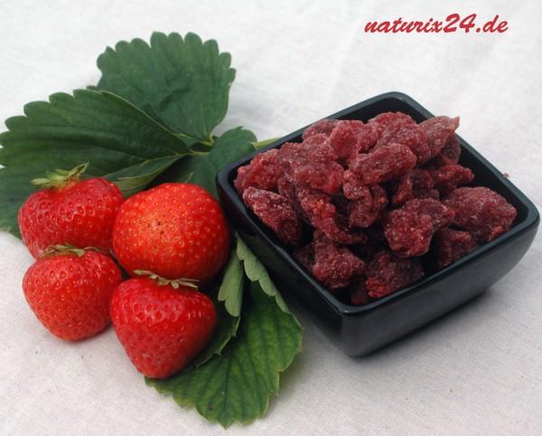 Erdbeeren gezuckert