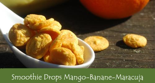 Früchtedrops Mango-Banane-Maracuja