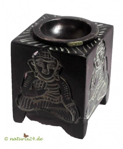 Aromalampe Buddha aus Speckstein