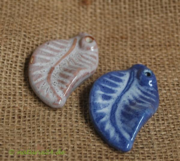 Räucherstäbchenhalter aus Keramik Blatt