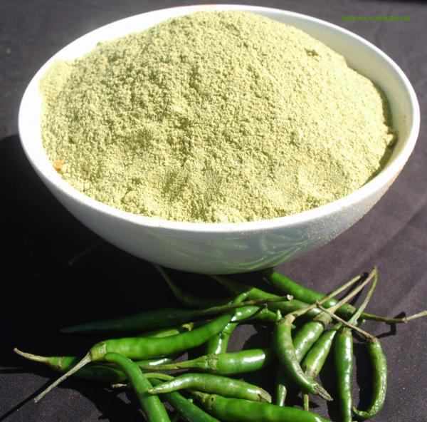 Chili Jalapeño grün gemahlen