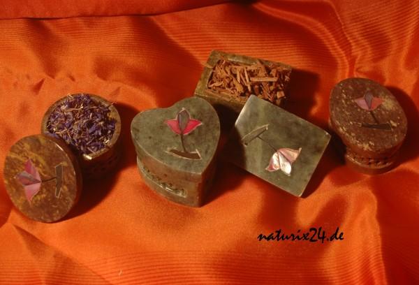 Duftdöschen aus Speckstein 5 cm 4er-Set