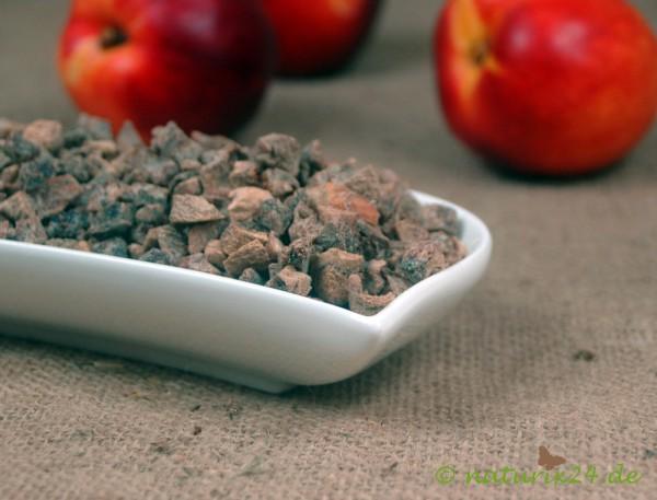 Pfirsiche gewürfelt