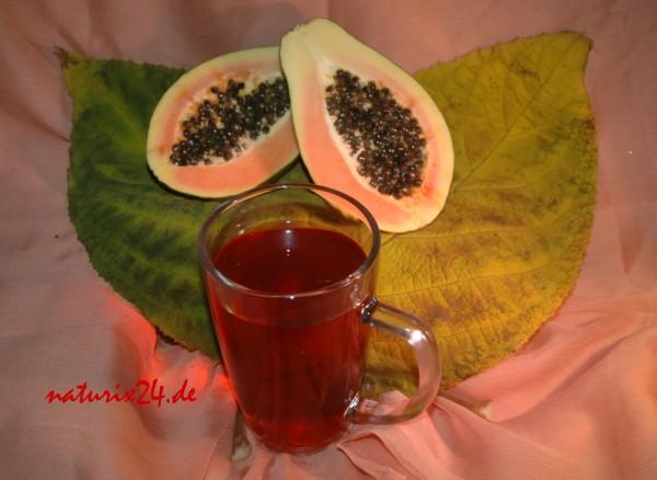 Schwarzer Tee Papaya
