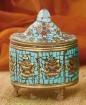 Dawa - Kupferdose mit Türkis