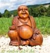 Happy Buddha aus Soar-Holz 20 cm