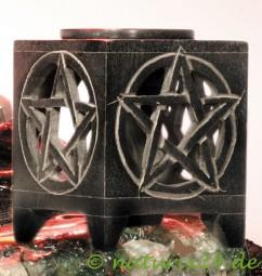 Aromalampe Pentagramm aus Speckstein