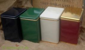 Teedose in verschiedenen Farben
